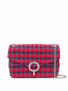 Sandro Paris geometric pattern shoulder bag - Red