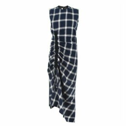 McQ Alexander McQueen Drawstring Check Dress