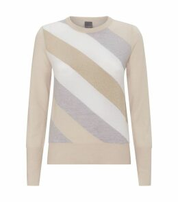 Multi-tonal Diagonal Stripe Sweater