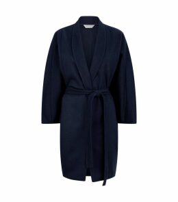 Cashmere Belted Cape Coat