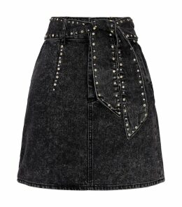 Belted Crystal-Embellished Skirt