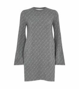 Monogram Sweatshirt Dress