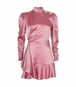 Silk Ruffled Mini Dress