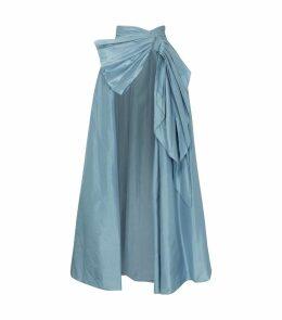 A-Line Silk Overskirt