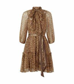 Silk Espionage Leopard Print Dress