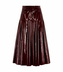 Vinyl Midi Skirt