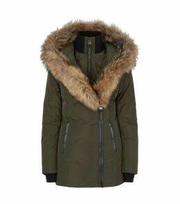 Fur-Trim Down Jacket