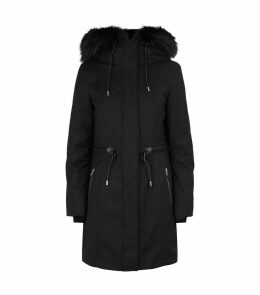 Fur-Lined Down Coat