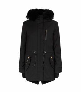 Fur-Lined Down Coat