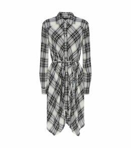 Tala Check Print Shirt Dress