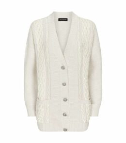 Sequin-Embellished Knit Cardigan