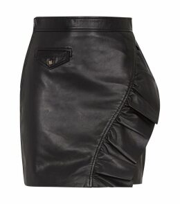 Leather Ruffle Skirt