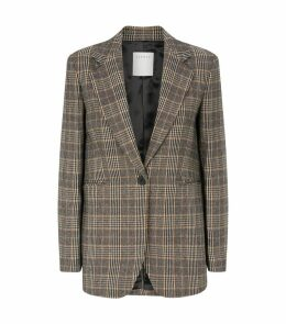 Prince of Wales Check Wool Blazer