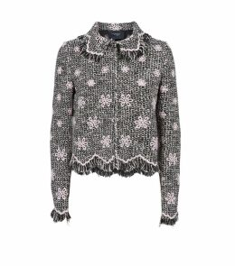Floral Tweed Collared Jacket