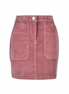 Womens Petite Blush Cord Skirt- Pink, Pink