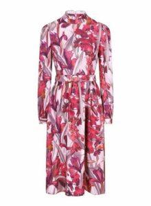 Womens **Little Mistress Multi Colour Floral Print High Neck Midi Dress, Multi Colour