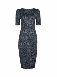 Womens **Tall Grey Animal Print Bodycon Dress- Animal, Animal