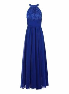 Womens *Jolie Moi Royal Blue Lace Maxi Dress- Blue, Blue