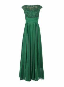 Womens *Jolie Moi Green Lace Detail Maxi Dress, Green