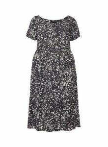 Womens **Dp Curve Black Gypsy Midi Dress- Black, Black