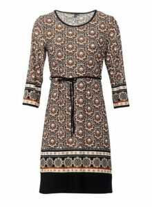 Womens *Izabel London Brown Eastern Print Dress, Brown