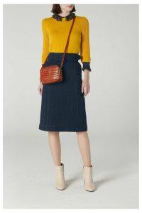 Womens L.K.Bennett Blue Suki Denim Skirt -  Blue