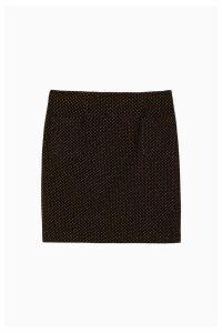 Womens FatFace Black Jennie Star Jacquard Skirt -  Black