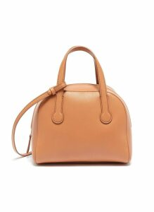 'Sporty' leather bowling bag
