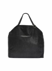 'Falabella' faux shaggy deer chain edge tote bag