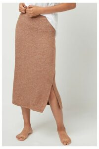 Womens Next Toffee Supersoft Skirt -  Natural
