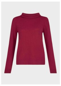 Audrey Wool Cashmere Sweater Raspberry