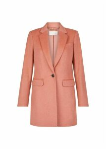 Tia Wool Blend Coat Cosmetic Pink