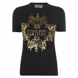 Versace Jeans Couture Baroque Logo T Shirt