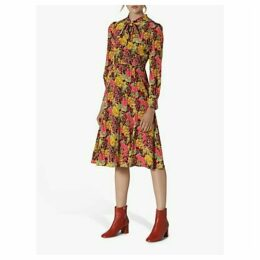 L.K.Bennett Mortimer Floral Silk Dress, Multi