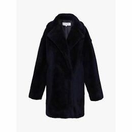 Gerard Darel Perrine Faux Fur Coat, Blue