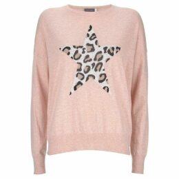 Mint Velvet Blush Animal Star Front Knit