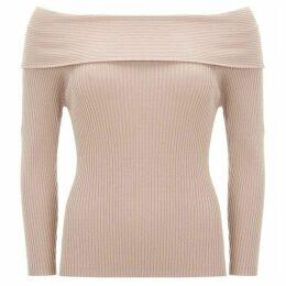 Mint Velvet Blush Bardot Ribbed Knit