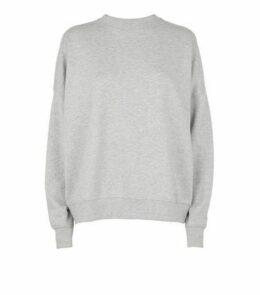 Grey Diamanté Embellished Sweatshirt New Look