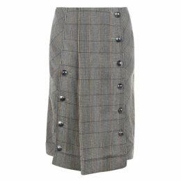 Chloe Check A Line Midi Skirt