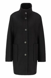 Regular-fit coat in boiled virgin wool