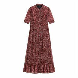 Ruffled Boho Midi Dress in Floral Print