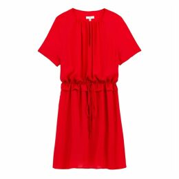 Mini Shift Dress with Short Sleeves