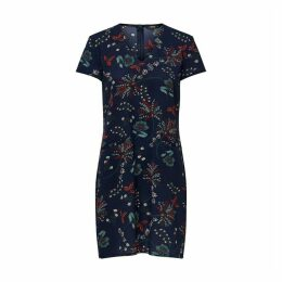 Floral Print Short-Sleeved Dress