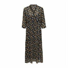 Short Sleeved Flared Midi Dress