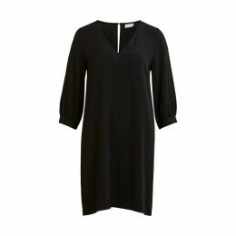 Shift Dress with V-Neck