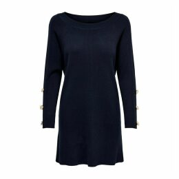 Short Flared Jumper Dress with Long Buttoned Sleeves
