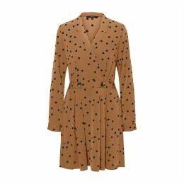 Pea Print Flared Dress