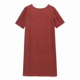 Printed Short Shift Dress with V-Back