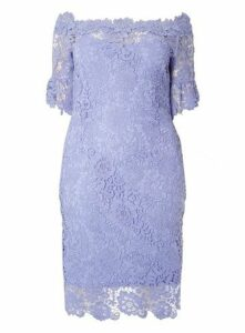 **Paper Dolls Blue Bardot Dress, Pale Blue