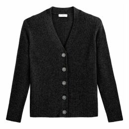 Cashmere Cardigan in Fine Knit